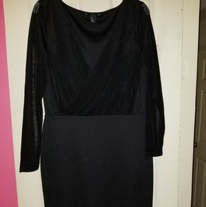 Bodycon little black dress